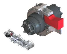 Black Bruin Motor Drive Axle For Track Application