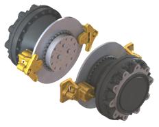 Black Bruin Motor Wheel Drive Application