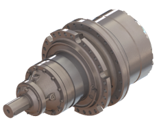 Planetary Drive Final Drive Combined With Shaft Input Application