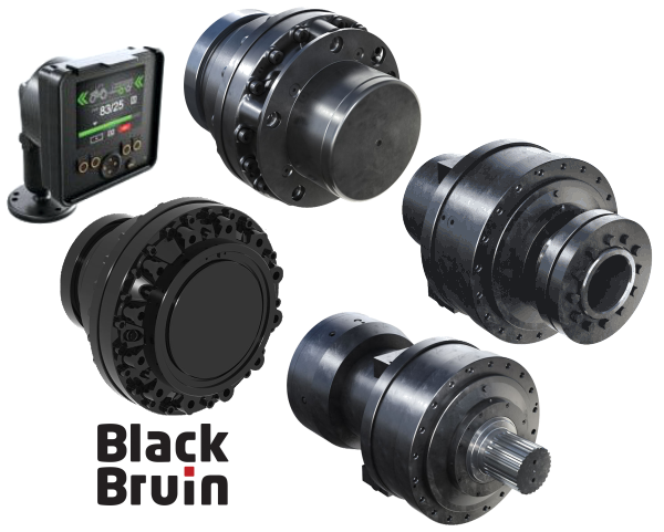 NAHI - Black Bruin Wheel & Hollow Shaft Motors